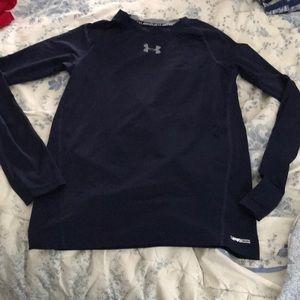 Boys fitted heat gear UA shirt